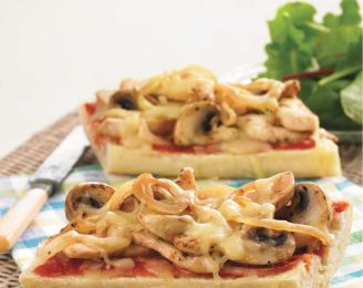 Chicken and Mushroom Pizza Baguette