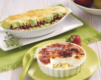 Organic Lasagna with Cream of Broccoli