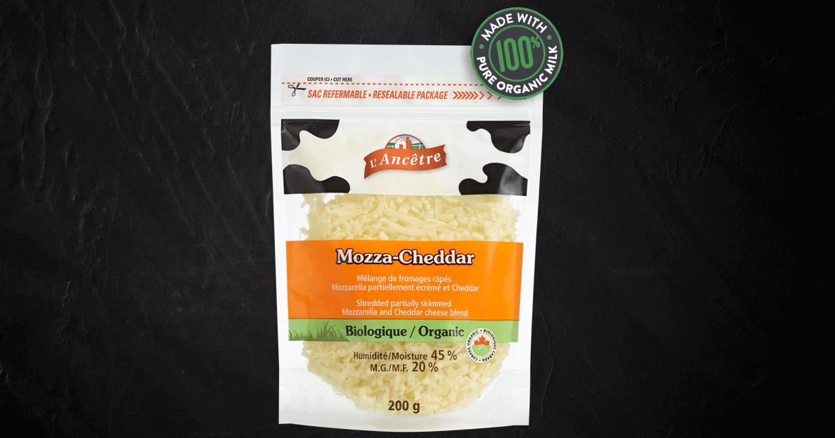 shredded cheddar  mozzarella blend  certified organic